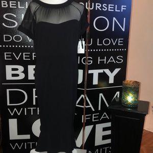 En Focus Studio , sexy , black and sheer dress .